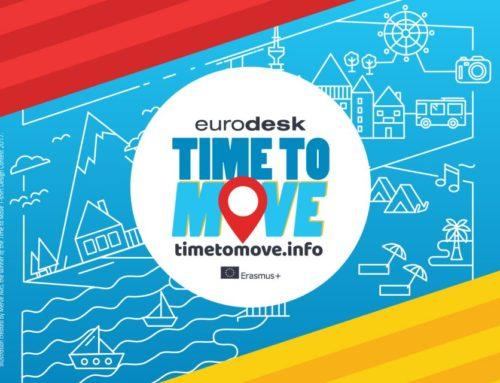 """Θέλετε μεγαλύτερη ορατότητα για τον φορέα σας και τη δράση του; Η καμπάνια του Eurodesk """"Time to Move"""" σας προσφέρει αυτή τη μοναδική ευκαιρία!"""